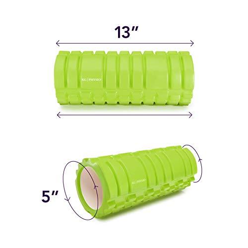 Rodillo de espuma con Puntos Gatillo para Masaje Muscular Diseño en Cuadrícula