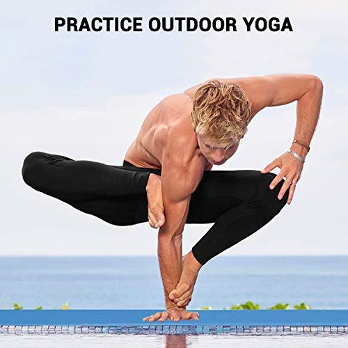 ROMIX Esterilla Yoga Antideslizante, 15MM Alta Densidad Gruesa y Suave Ecológica Almohadilla de Espuma de Memoria, Liviana Yoga Mat para Pilates Ejercicio Gimnasio Fitness Meditación Viaje (Azul)