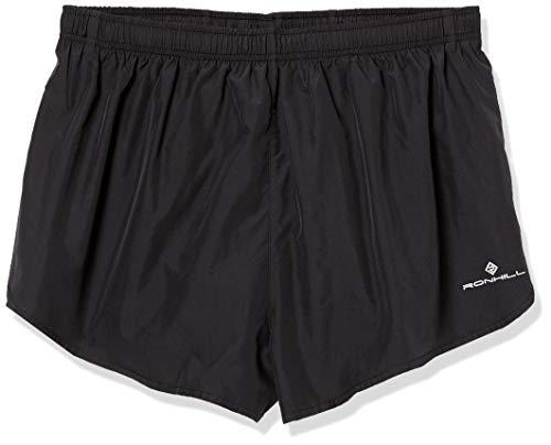 Ronhill Everyday Split Pantalones Cortos de Competición, Hombre, Negro, S