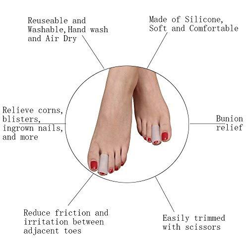 ROSENICE Protectores de dedos del pie Gel de silicona punteras para Prevenir Ampollas Callos 5 pares