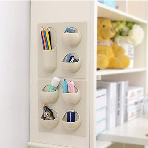 Royalr Strong Self-Adhesive Hanging Shelves Kitchen Bathroom Plastic Shelf Rack Hanging Wall Mounted Plastic Shelf Storage Racks
