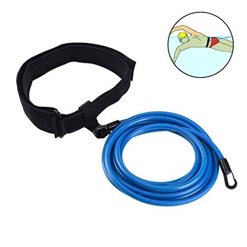RUNACC Cinturón de natación Ajustable para Piscinas de natación (Azul)
