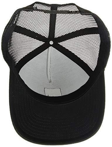 RVCA Men's VA All The Way Curved Brim Trucker HAT, Black, One Size