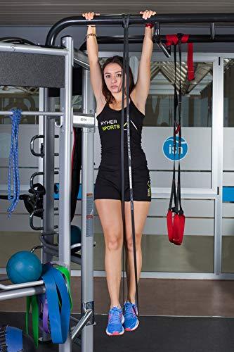 Ryher Banda elástica de Resistencia para dominadas - Banda de Ejercicios para Fitness, Crossfit, Asistente para pullups o Levantamiento de Pesas (Individual #3 Negra - de 9 a 27 kg)