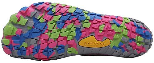 SAGUARO Mujer Barefoot Zapatillas de Trail Running Minimalistas Zapatillas de Deporte Fitness Gimnasio Caminar Zapatos Descalzos para Correr en Montaña Asfalto Escarpines de Agua, Rosa, 41 EU
