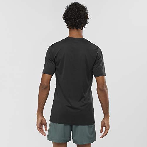 SALOMON Agile Training tee M Camiseta Deportiva de Manga Corta, Negro, Talla 2XL para Hombre