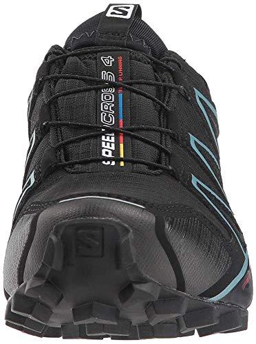Salomon Speedcross 4 GTX W, Zapatillas de Trail Running para Mujer, Negro (Black/Black/Metallic Bubble Blue), 37 1/3 EU