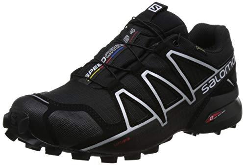 Salomon Speedcross 4 GTX, Zapatillas de Trail Running para Hombre, Negro (Black/Black/Silver Metallic-X), 44 2/3 EU
