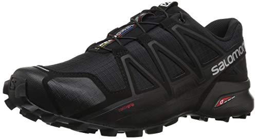 Salomon Speedcross 4, Zapatillas de Trail Running para Hombre, Negro (Black/Black/Black Metallic), 43 1/3 EU