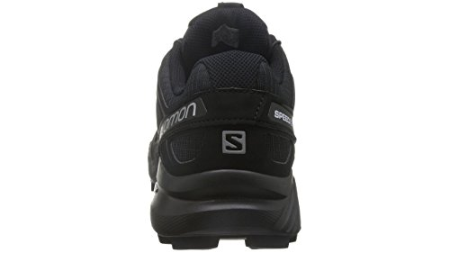 Salomon Speedcross 4, Zapatillas de Trail Running para Hombre, Negro (Black/Black/Black Metallic), 44 EU