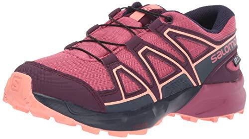 Salomon Speedcross CSWP J, Zapatillas de Trail Running Unisex Niños, Morado (Malaga/Potent Purple/Desert Flower), 35 EU