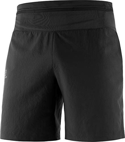 SALOMON XA Training Short M Shorts Deportivos, Mezcla de sintéticos, Hombre, Negro, L
