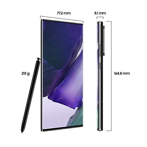 """Samsung Galaxy Note20 Ultra 5G Smartphone Android Libre de 6.9"""" 256GB Mystic Black [Versión española]"""