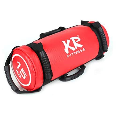 Sandbag - 5kg 10kg 15kg 20 Kg Saco De Arena Fitness - Power Bag con 6 Asas Y Cremallera para Levantamiento De Pesas, Levantamiento De Pesas, Ejercicio, Carrera (1pcs/Color Al Azar)