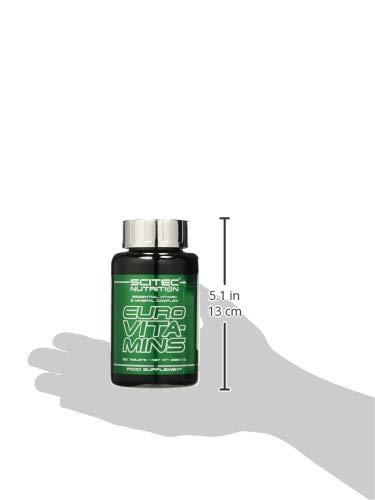 Scitec 0728633108831 - Euro Vita-Mins Complejo de vitaminas y minerales esenciales, 12 tabletas, 255.4 gr