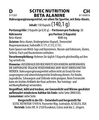 Scitec Beta-Alanina - 150 Cápsulas
