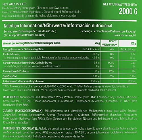 Scitec Nutrition 100% Whey Isolate Sabor de Chocolate 2000 g