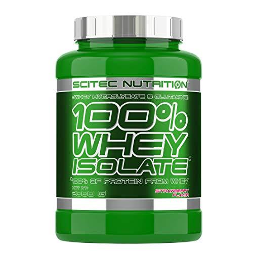 Scitec Nutrition 100% Whey Isolate Suplemento Nutricional de Proteinas con Sabor de Fresa - 2 kg