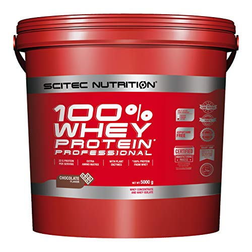 Scitec Nutrition 100% Whey Protein Professional Proteína Chocolate - 5000 g