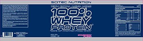 Scitec Nutrition 100% Whey Protein Proteína Fresa - 920 g