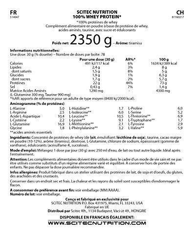 Scitec Nutrition 100% Whey Protein proteína tiramisu 2350 g