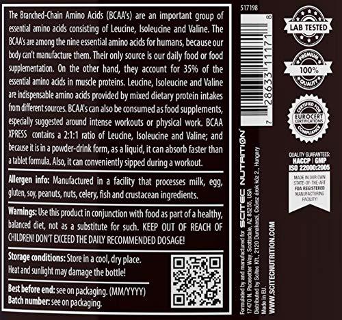 Scitec Nutrition BCAA Xpress aminoácidos cola-lima 700 g