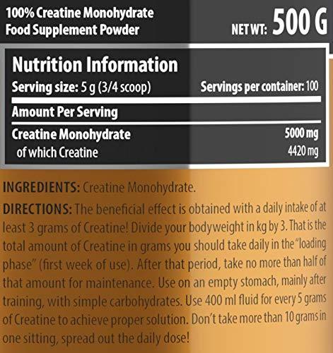 Scitec Nutrition Creatine Monohydrate, sin Sabor - 500 g