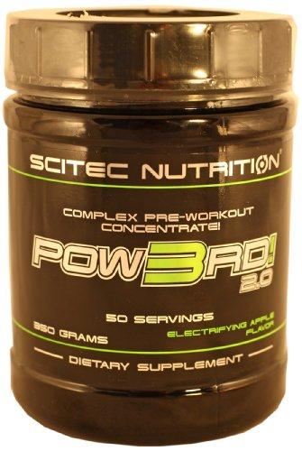 Scitec Nutrition Pow3rd! 2.0 fórmula pre entrenamiento Manzana 350 g