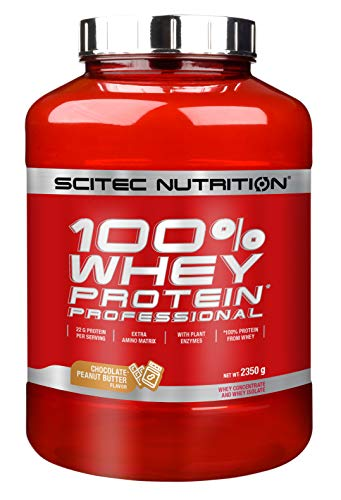 Scitec Nutrition Whey Protein Professional Proteína Chocolate - Mantequilla de cacahuate 2350 g