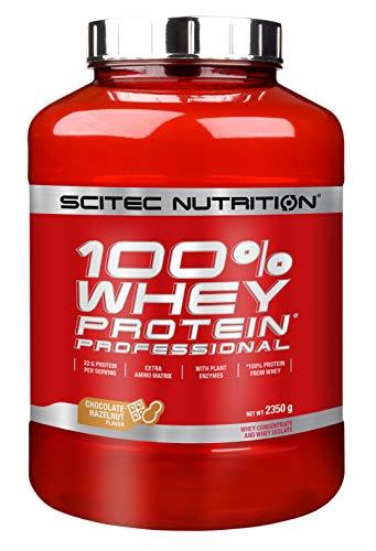 Scitec Whey Protein Professional Mezcla de Proteína de Suero, chocolate con avellana- 2350 gr