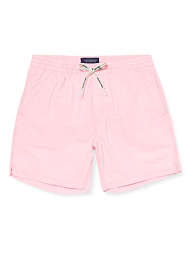 Scotch & Soda Mid-Length Bright Garment-dyed Swim Short Pantalones Cortos, Rosa (Hot Pink 1131), Medium para Hombre