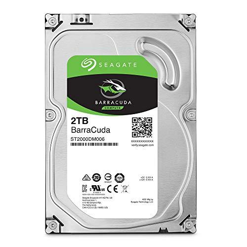 """Seagate BarraCuda, 2TB, Disco duro interno, HDD, 3,5"""", SATA 6 Gb/s, 7200 r.p.m., 64 MB, caché para ordenador de sobremesa y PC (ST2000DM008)"""