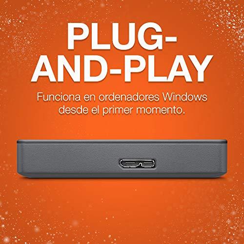 Seagate Basic portátil, 1TB, Disco duro externo, HDD, USB 3.0 para PC, ordenador portátil (STJL1000400)