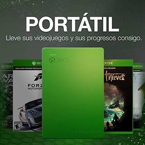 Seagate Game Drive para Xbox, 4TB, Disco duro externo, HDD portátil, diseñado para Xbox One (STEA4000402)