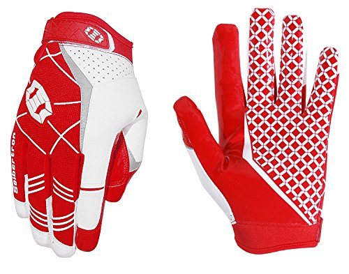 Seibertron Pro 3.0 Elite Ultra-Stick Sports Receiver Glove American Football Gloves Youth and Adult/Guantes de Fútbol Americano para Juventud y Adulto (Rojo, XXL)