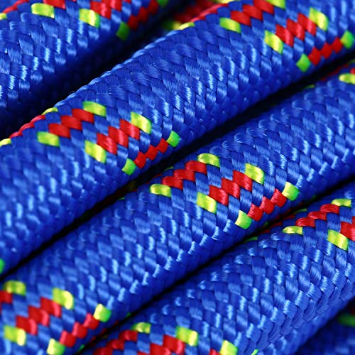 Selighting Cuerda de Seguridad Cuerda de Escalada Profesional de Alta Resistencia para Escalar al Aire Libre y en Interiore Perfessional Rappelling Auxiliar, 10 mm de Diámetro (10m, Azul)