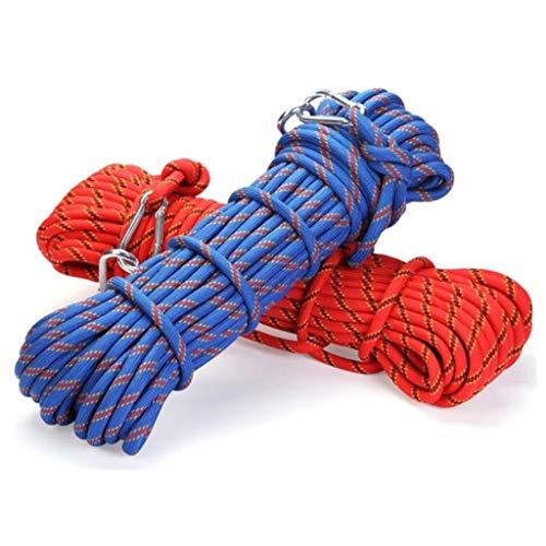 Selighting Cuerda de Seguridad Cuerda de Escalada Profesional de Alta Resistencia para Escalar al Aire Libre y en Interiore Perfessional Rappelling Auxiliar, 8mm de Diámetro (20m, Naranja)
