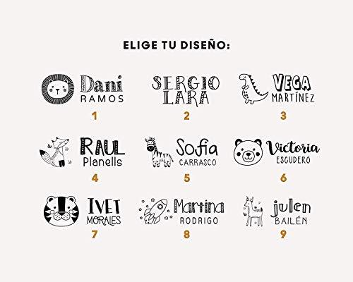 Sello marcador ropa personalizado niños Elige entre 9 Diseños Exclusivos