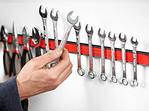 Set de 3 barras magneticas para herramientas | Carga máx. por barra 23 kg | largo total de la barra 45 cm |