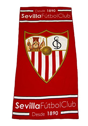 Sevilla CF Toasev Toalla, Blanco/Rojo, Talla Única