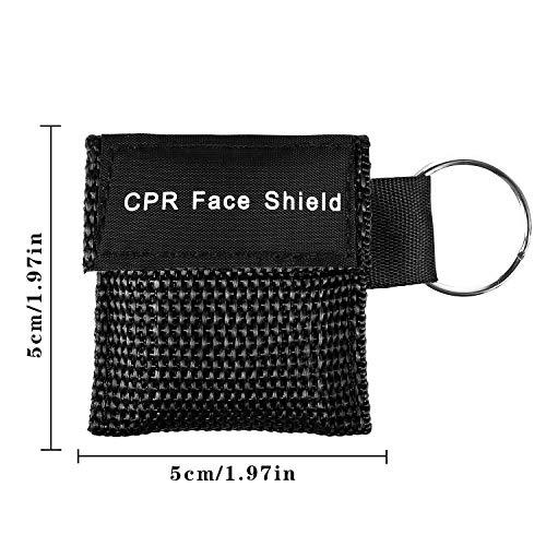 Shayson Paquete de 16 Mascarilla rcp, CPR Máscara de Bolsillo máscara de Emergencia con Kit de Emergencia con válvula de una vía para Rescate de Primeros Auxilios o Entrenamiento con AED