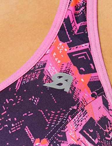 Shock Absorber Active Zipped Plunge Sujetador Deportivo, Building Print, 85B (Tamaño del Fabricante:85 B) para Mujer
