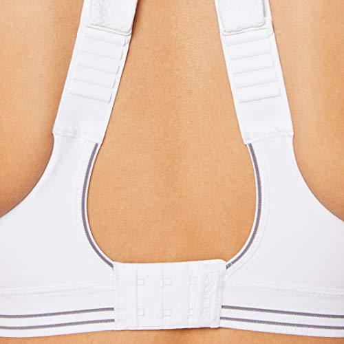 Shock Absorber Ultimate Run Bra, Sujetador Deportivo para Mujer, Blanco (White/Silver), 110C
