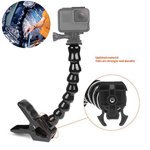 SHOOT Flex Clamp Soporte Ajustable Base de Forma Serpentina de Ocho Pedazos para Gopro Hero 8/7/6/5/4/3 SJCAM SJ4000/SJ5000/SJ6000 Xiaomi Yi