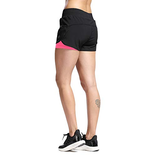 SILIK Womens Sports Gym Shorts Entrenamiento Transpirable Correr Fitness Leggings Coral Rojo XL