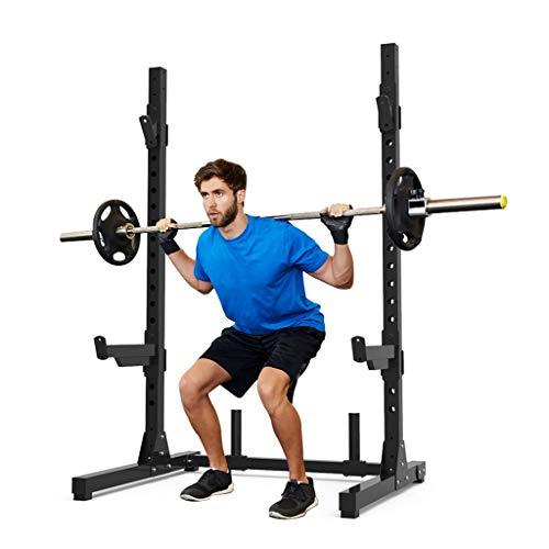 Silla de Fitness Jaula de sentadillasjaula de Sentadillas Profesional Barbell Rack Levantamiento de Pesas Rack Estante de Entrenamiento Crossfit aparatos de Ejercicios Multifuncional Bancos