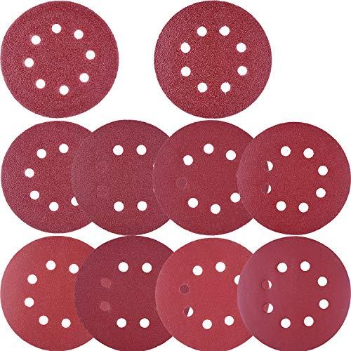 SIQUK Disco de lijado de 100 piezas Disco de lijado de 80/180/240/320/400/800/1000/1500/2000/3000/1000/2000/3000/3000/3000/3000/3000 para la lijadora orbital