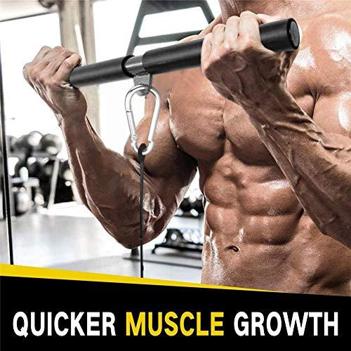 Sistema de polea de cinturón para brazos, dispositivo de resistencia de barra de alta tensión para entrenamiento de tríceps, polea de gantry alto, 9 juegos de equipo de fitness para hombres y mujeres