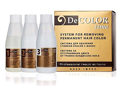 Sistema para eliminar el color permanente del pelo  decolor time
