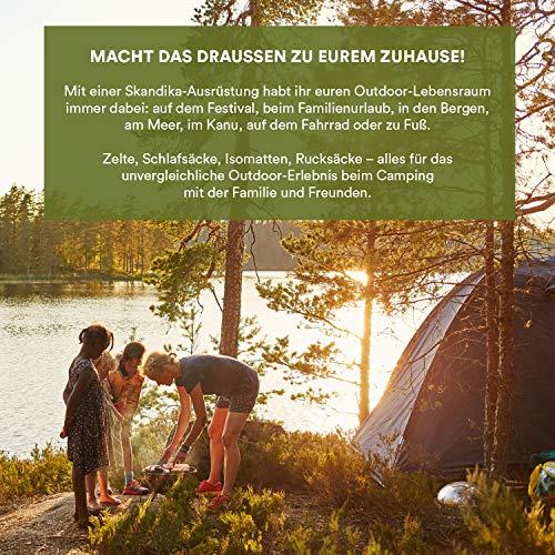 skandika Familienzelt Nordland 4 Tienda de campaña, Unisex, Verde, 4 Persons